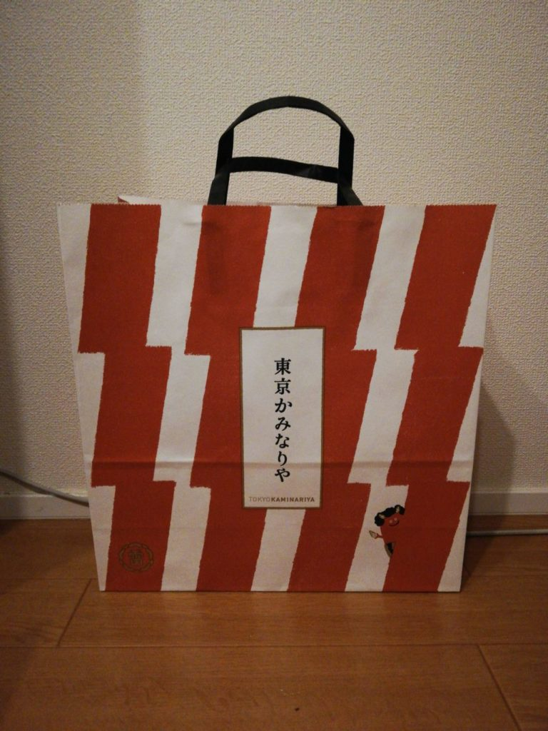 東京かみなり舎のショッパー
